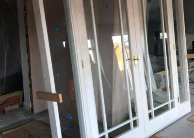 Internal double doors with side lights