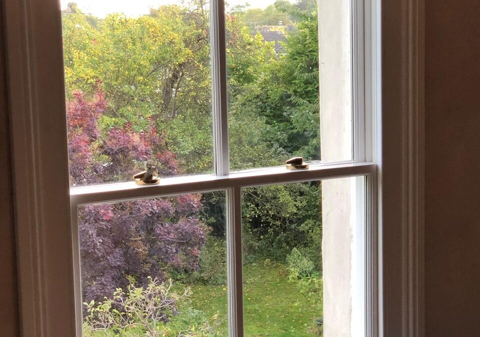 Traditional sliding sash window