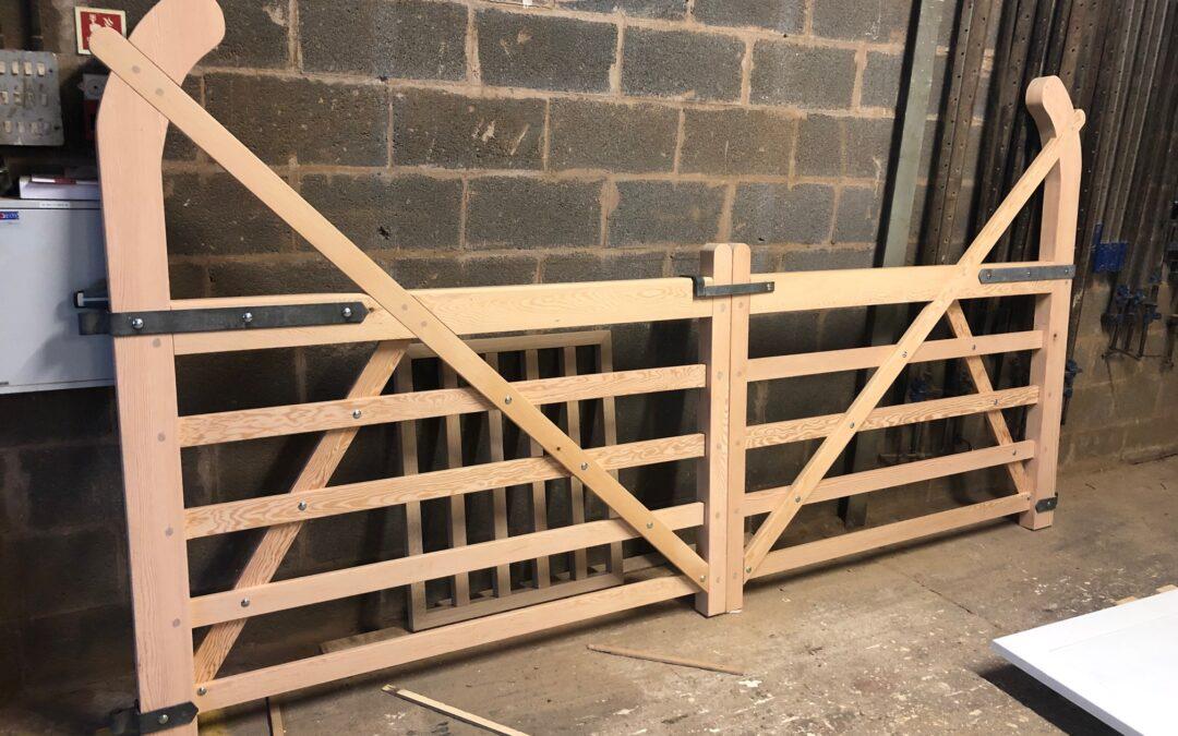 Douglas Fir Five Bar Gates