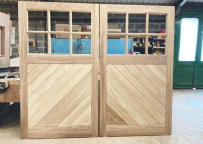 Replacement Double Iroko Garage Doors