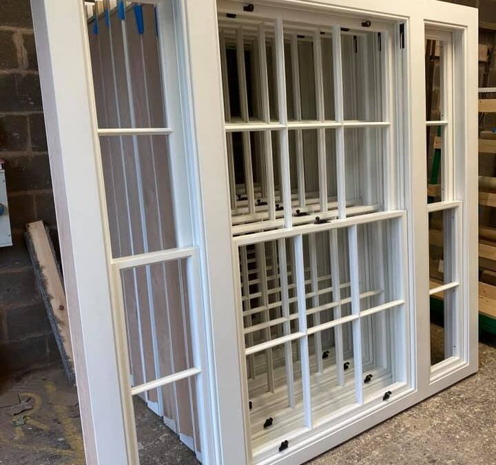 Traditional sliding box sash windows manufactured