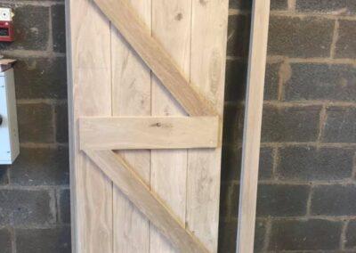 Internal oak ledge and brace doors