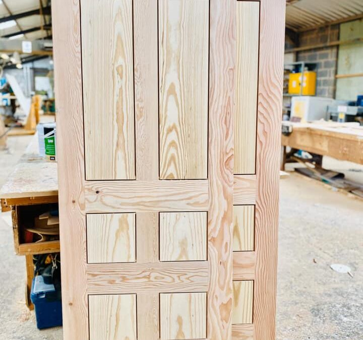 Douglas fir doors with Yellow Pine panels