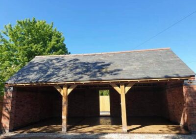 Solid European Oak Timbers recently supplied as part of a carport