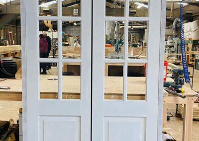 Sapele Hardwood French doors manufactured