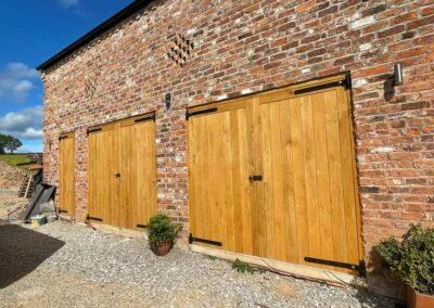 European Oak door sets completed for a recent barn conversion