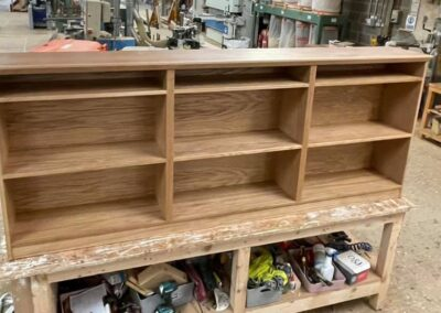 Bespoke bookshelf manufactured to clients requirements
